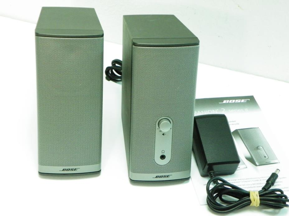 Bose Companion 2 Series II Computer Speakers With Power Supply.