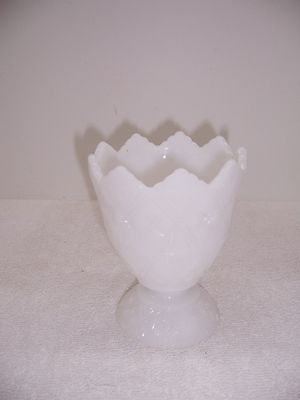 Milk Glass Pedestal Dish