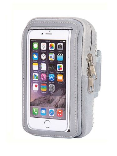 iPhone 7 Plus Armbands Sport Touchscreen Pouch Multi Function Pocket (gray)