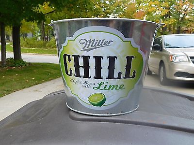 MILLER CHILL- Galvanized Beer Bucket 1.5 Gallon w/ Handle