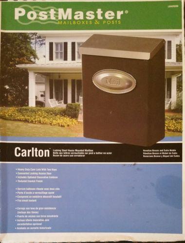 Post Master Carlton Venetian Bronze Satin Nickle Wall-Mount Locking Mailbox