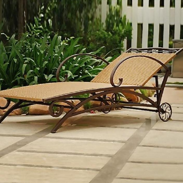 International Caravan Valencia Multi-Position Wicker Patio Chaise Lounge Chair