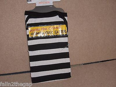 DOG  COSTUME SIZE (  SMALL )  PRISONER PAJAMAS HOMEWORK EATER  NWT DOG CLOTHES