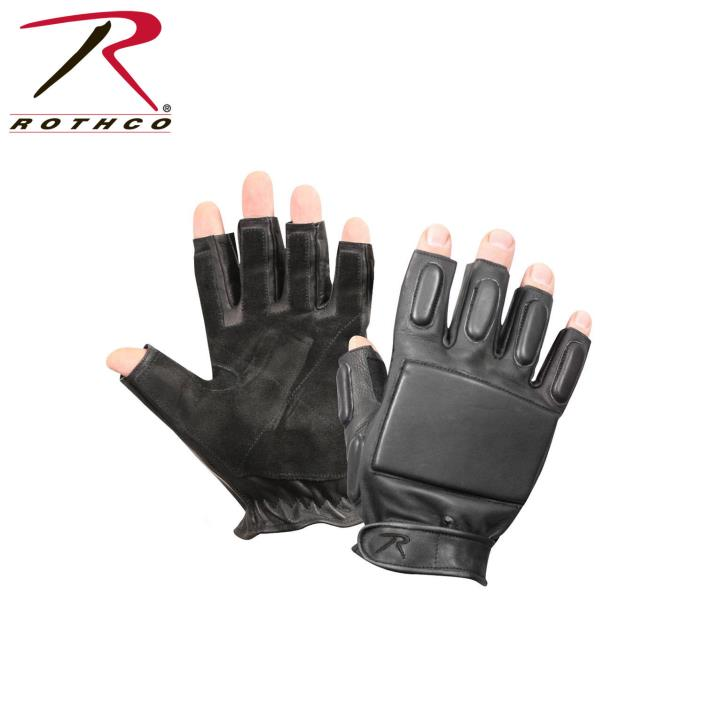 3454 Rothco Tactical Fingerless Rappelling Gloves - Black (S)