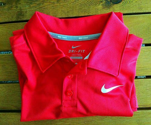 Nike Youth Drifit Tennis Polo Shirt. Size Xlarge. Red