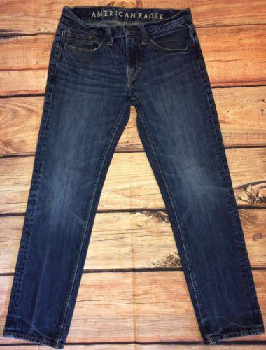 Men's American Eagle Jeans Size 28 30 28x30 Pants Slim Straight Blue AE AEO
