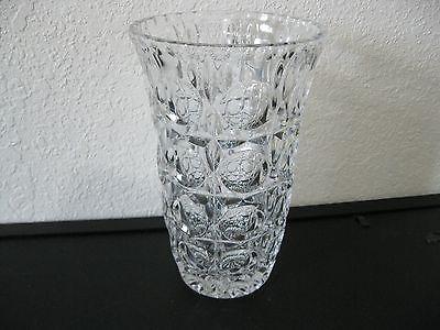 vintage eap glass thumbprint vase very heavy