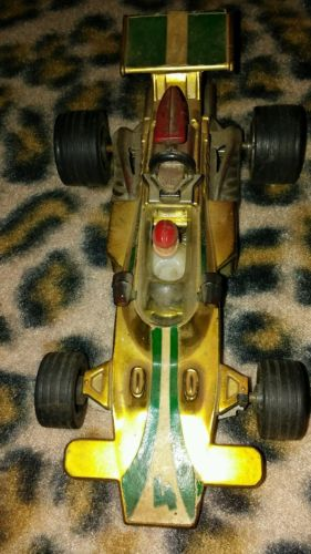 Vintage Lotus Race Car with Race Car driver Very Nice