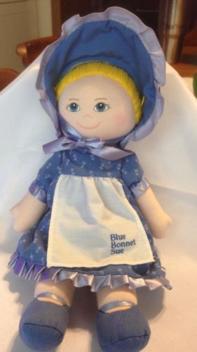 Vintage 1986 Cloth Nabisco  Blue Bonnet Sue Girl Doll 11