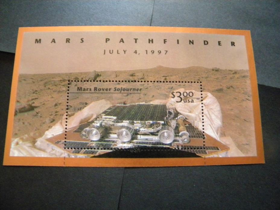 U.S. MINT SOUVENIR STAMP SHEET MARS PATHFINDER