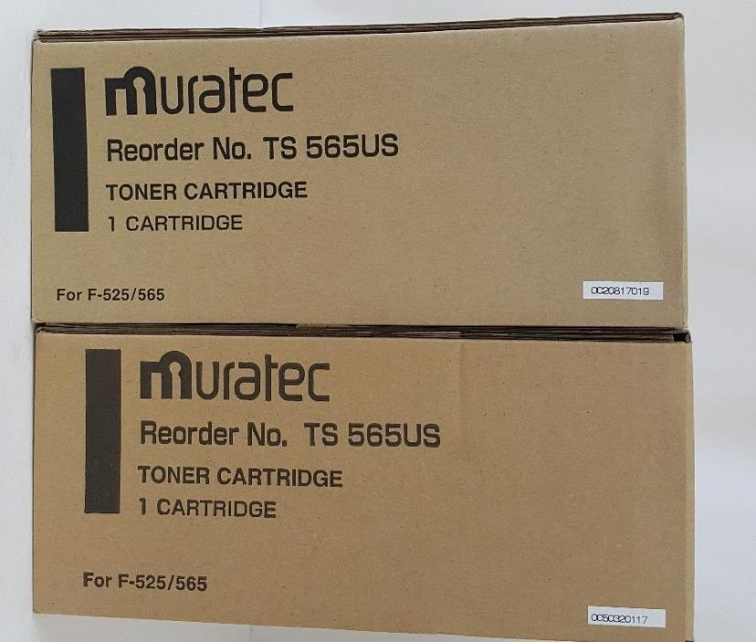 Muratec Genuine Toner Cartridge TS565US F-525  F-565 NEW SEALED TS 565US