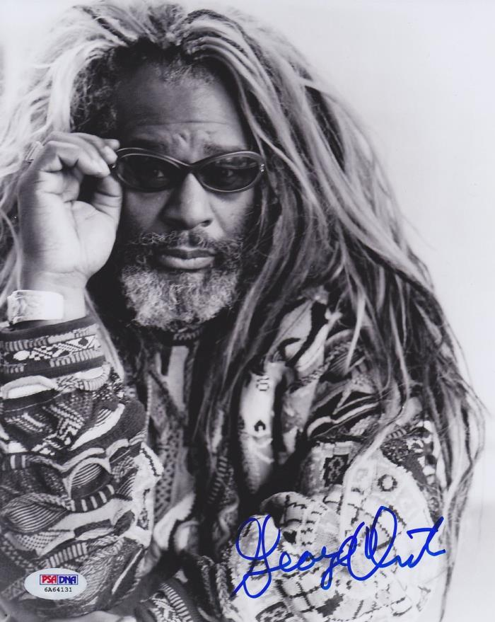 GEORGE CLINTON Signed 8x10 Photo PSA/DNA In-the-Presence Authenticated Auto!
