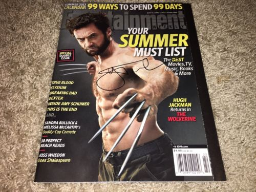 Hugh Jackman signed Wolverine Entertainment Weekly Logan X-men