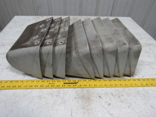 Tapco 12x7 AA Super Tough Nylon Elevator Bucket/Conveyor Lot of 8