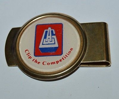 Nice Vintage AEG Golden Metal Company Promo Money Clip Clip The Competition