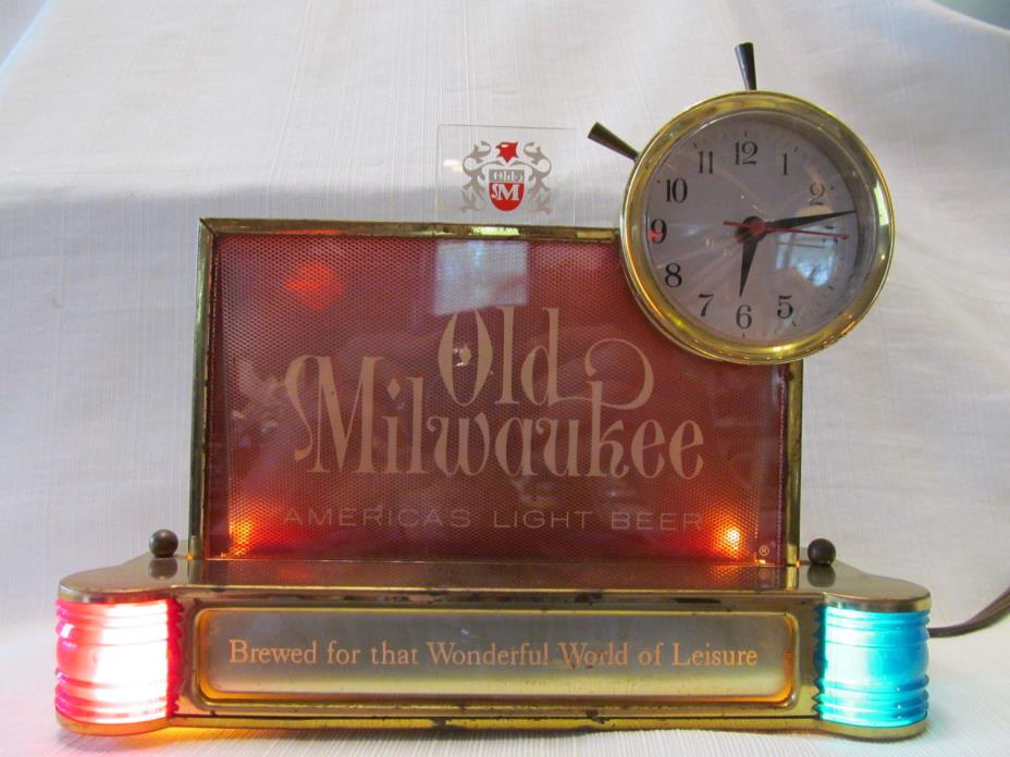 Old Milwaukee Beer Clock For Sale Classifieds