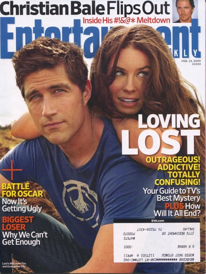 Entertainment Weekly Magazine February 13, 2009 2/13/09 LOST MATTHEW FOX B-2-1