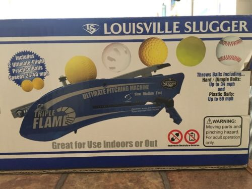 New in Box Louisville Slugger Triple Flame Hand-held Pitching Machine!!!