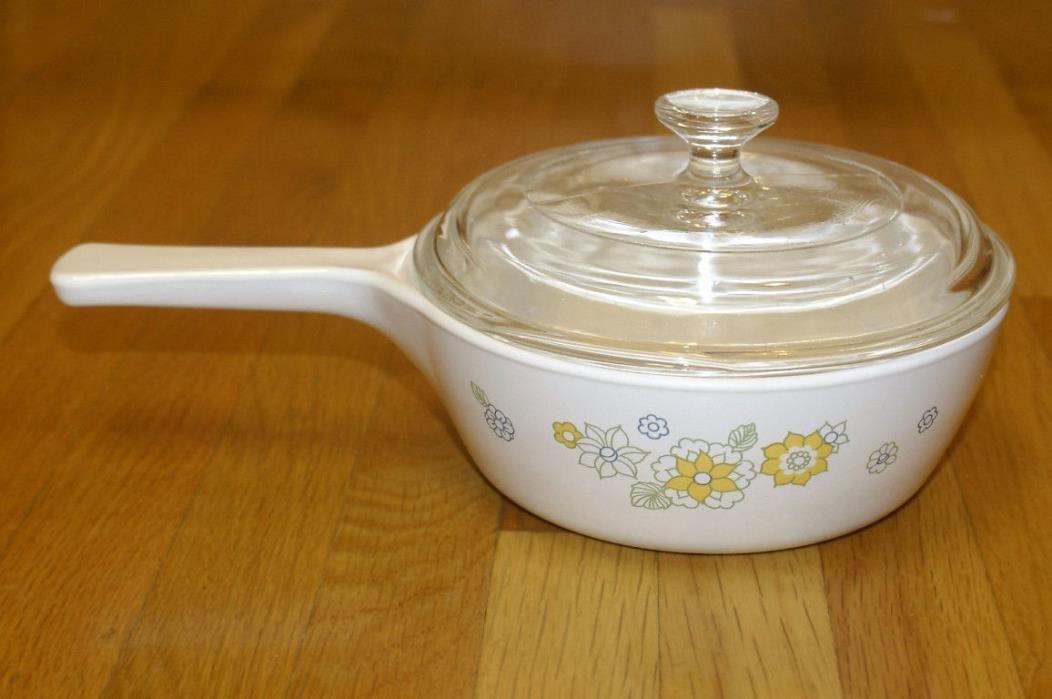 Corning Ware FLORAL BOUQUET Menuette Cookware 1 Pint Saucepan P-81-B w/ Lid