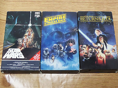 Star Wars Trilogy VHS Original Unedited Theatrical Versions CBS FOX Video RARE
