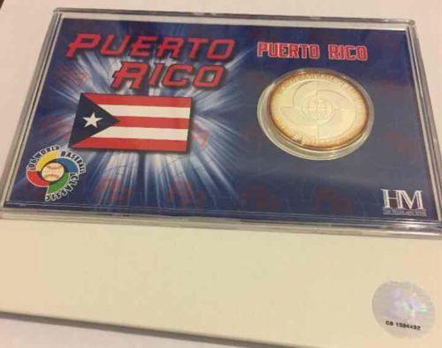 2006 Puerto Rico WBC World Baseball Classic coin Silver OverLay  Limited