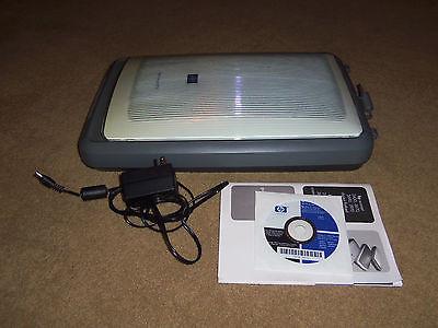HP Scanjet 3970 flatbed scanner 2400dpi slides negatives film backlight USB Win7