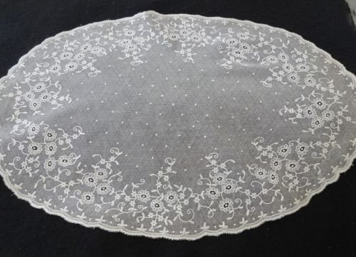 Vintage Alencon Lace Centerpiece Table Mat