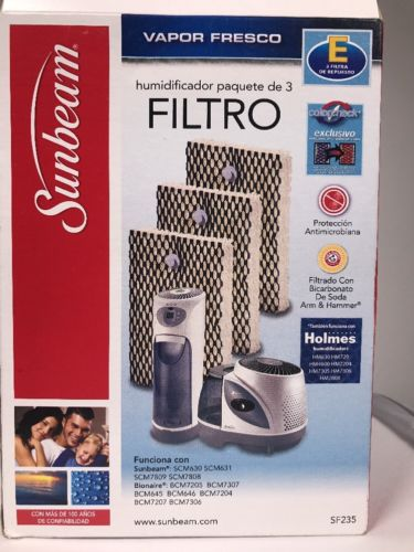 Sunbeam SF235 3-Pack Humidifier Filters -  Holmes HWF100 - Type E -FAST SHIPPING