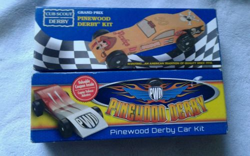 2*  Boy Scouts BSA Pinewood Derby CAR KITS- NEW