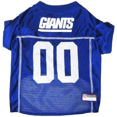**NEW YORK GIANTS NFL Mesh Pet Dog Jersey Game XS -SMALL Football Gear official