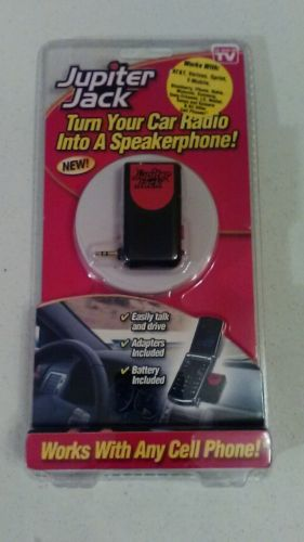 As seen on TV Jupiter Jack car speaker to cell phone adapter set new packaged
