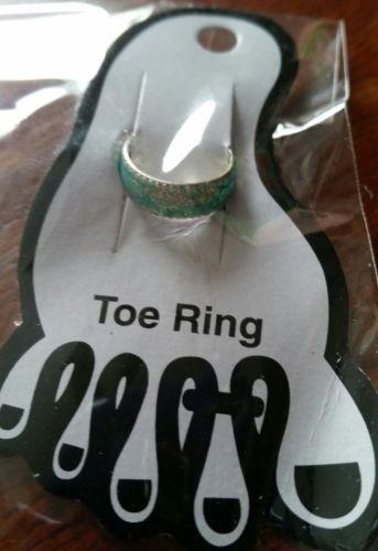 Silver Glitter Toe Ring