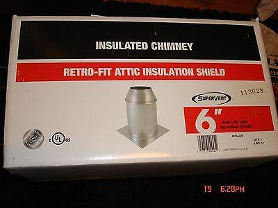 SuperVent JSC6SAIS Stainless Steel Insulation Shield. Item:359755  Retails $45