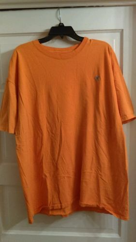 lot of 2 xl mens champion shirts cotton orange green embroidered short sleeve