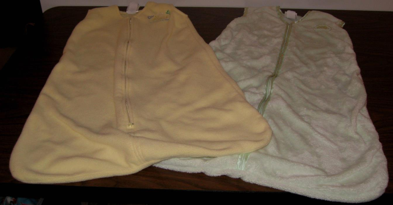 Halo SleepSacks, Size Medium/ 6-12 months, Yellow & Mint Green, Lot of 2