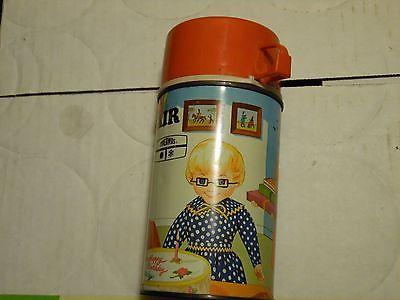 Family Affair`1969`Hit Tv Show,Mrs Beasley,Metal Lunch Box-Thermos-Rare