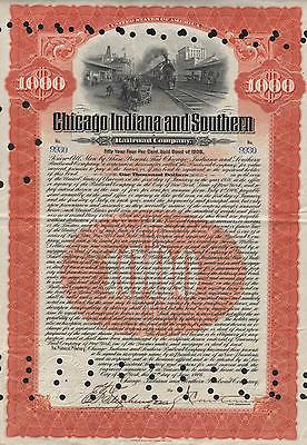 USA CHICAGO INDIANA SOUTH RAILROAD stock certificate