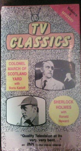 TV Classics Volume 3  1950's Mysteries New VHS Colonel March & Sherlock Holmes