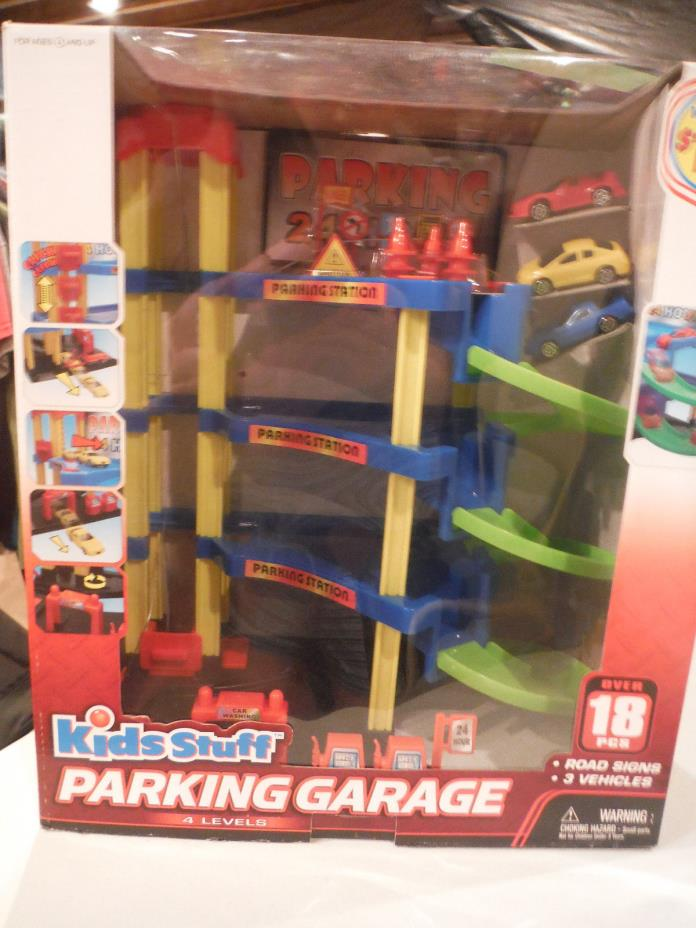 NEW KIDS STUFF 4 Level Parking Garage - Over 18 pcs