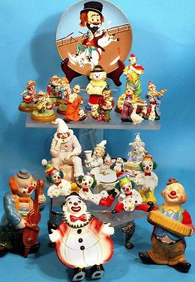 COLLECTOR CLOWN-LOT VINTAGE MUSIC BOX FIREMEN BANK R.SKELETON PLATE ALL A+ COND.