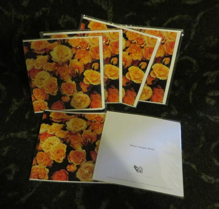 Antique roses greeting card, Paper House,  6 lot