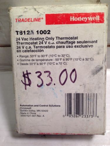 Honeywell Heat Only Thermostat (T812A 1002)