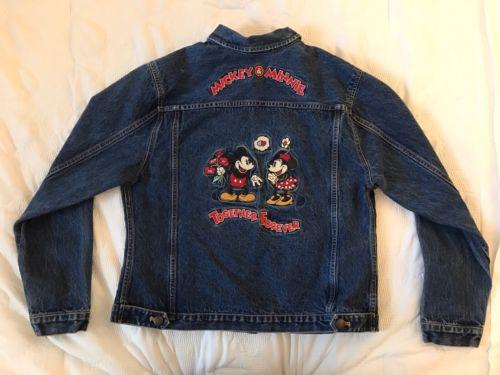 Walt Disney Mickey & Minnie mouse Denim Jacket SZ M