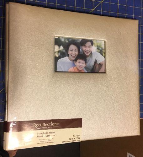 Ivory Shimmer Faux Leather Covered Scrapbook Album plus BONUS ITEM