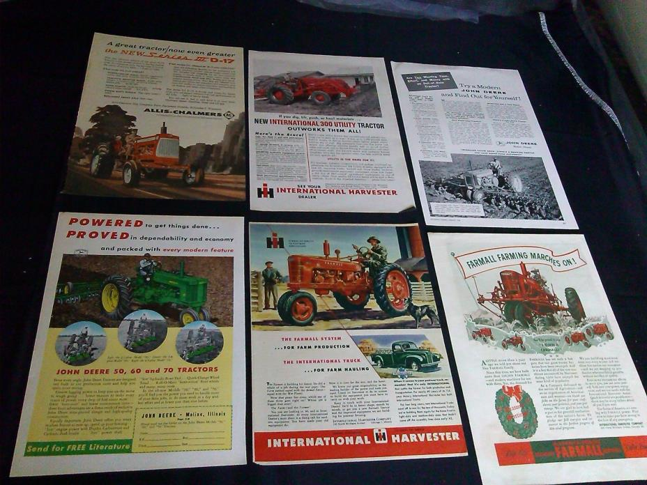 26 full page tractor magazine print ads 1940-1963 massey ferguson ford ad NICE