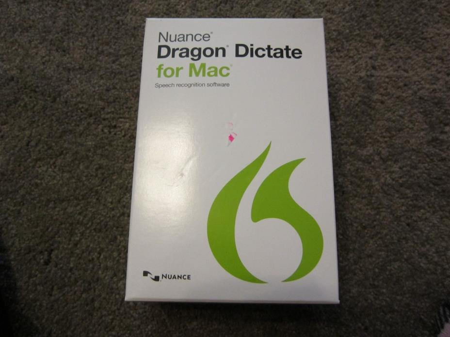 Nuance Dragon Dictate 4 / 4.0 for Mac, w/ Headset Included - Retail Box - NEW