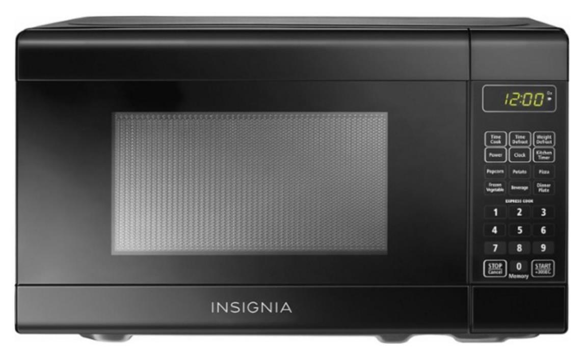 Insignia 0.7 Cu. Ft. Compact Microwave - Black