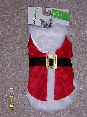 Precious Santa suit costume for dog, extra small/small, NWT, Christmas
