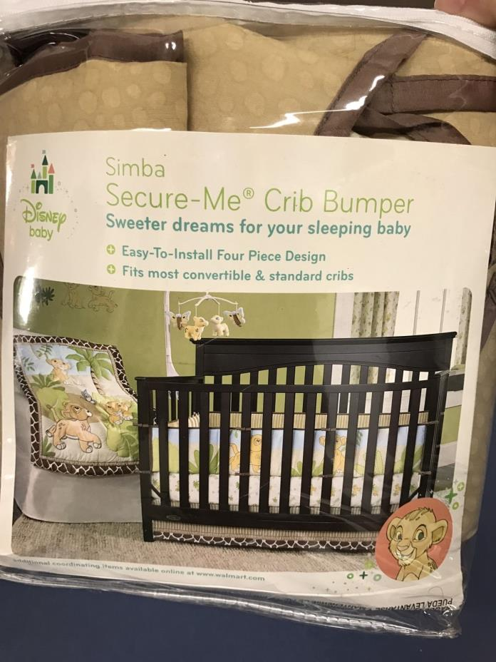 New Disney Baby Simba Secure-Me Crib Bumper Lion King Four-Piece Nursery Bedding