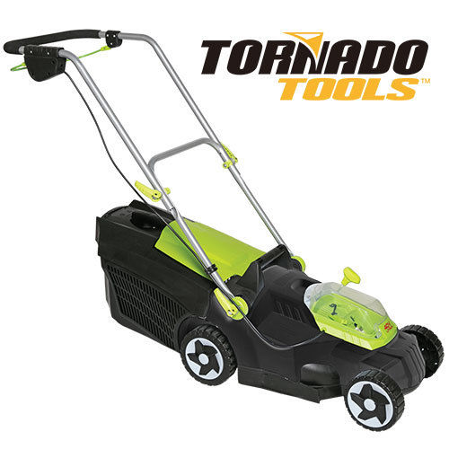 Tornado Tools 12 Amp Rechargeable Electric Lawn Mower